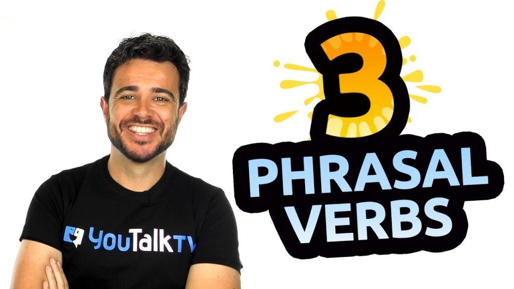 3 phrasal verbs en inglés