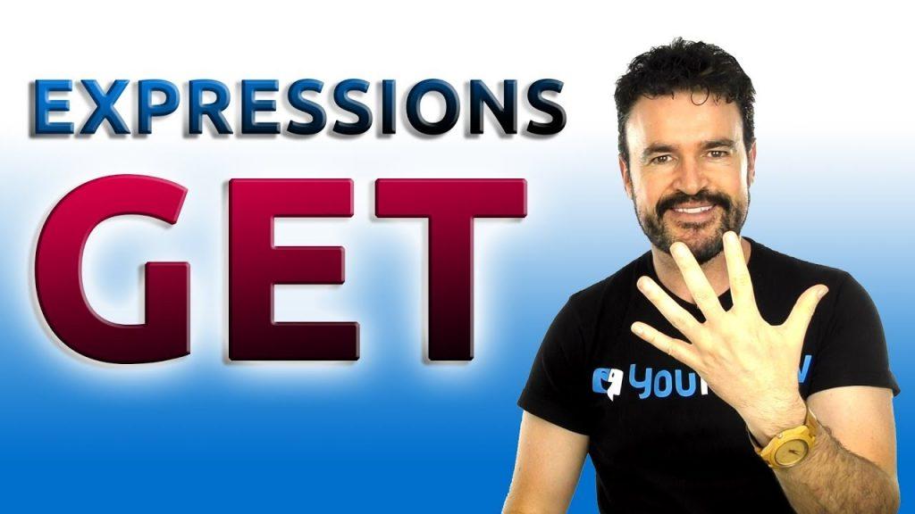 Se trata de una imagen para un artículo en donde hablamos de cinco expresiones con el verbo to get en inglés