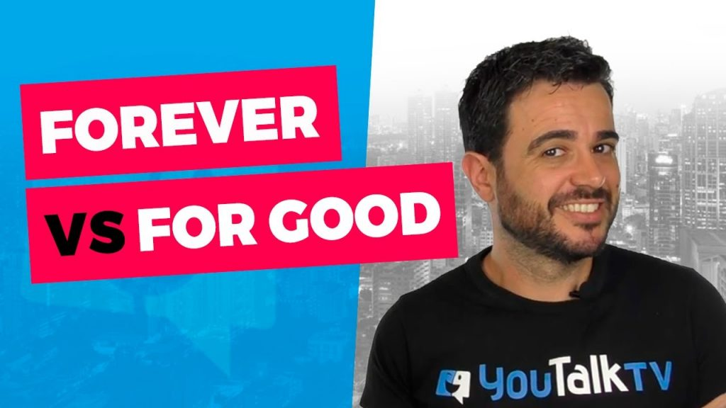 Diferencias entre forever y for good: La portada del vídeo de YouTube de Carlos