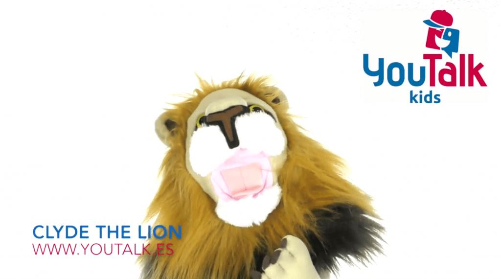 Imagen asociada a imperativos en ingles con clyde the lion