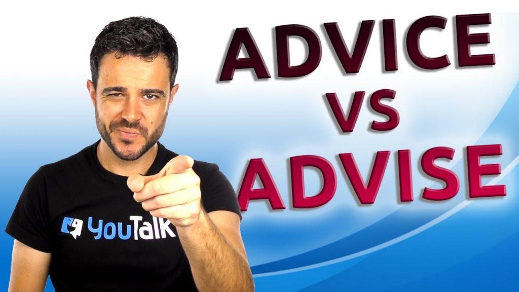 Advise y advice ¿Los sabes usar?