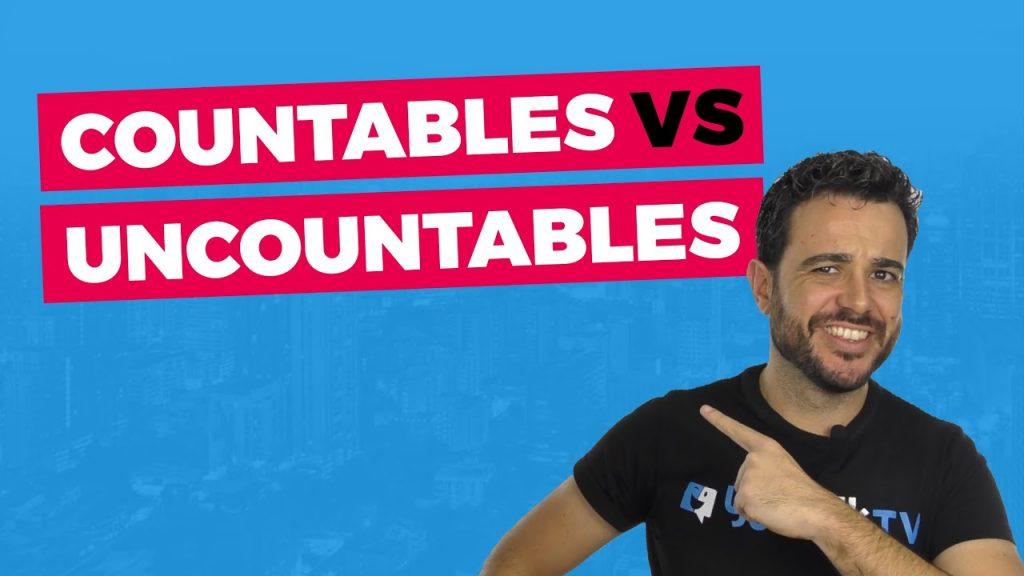 sustantivos contables y contables en inglés:Portada del vídeo de YouTube de Carlos