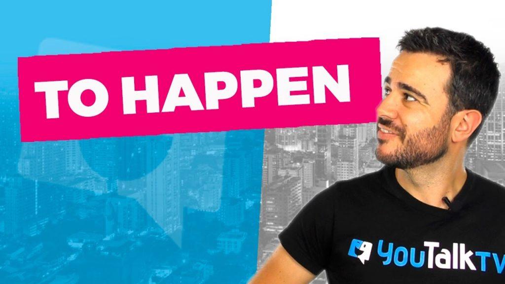 Cómo usar el verbo To Happen: Portada del vídeo del canal de YouTube de Carlos