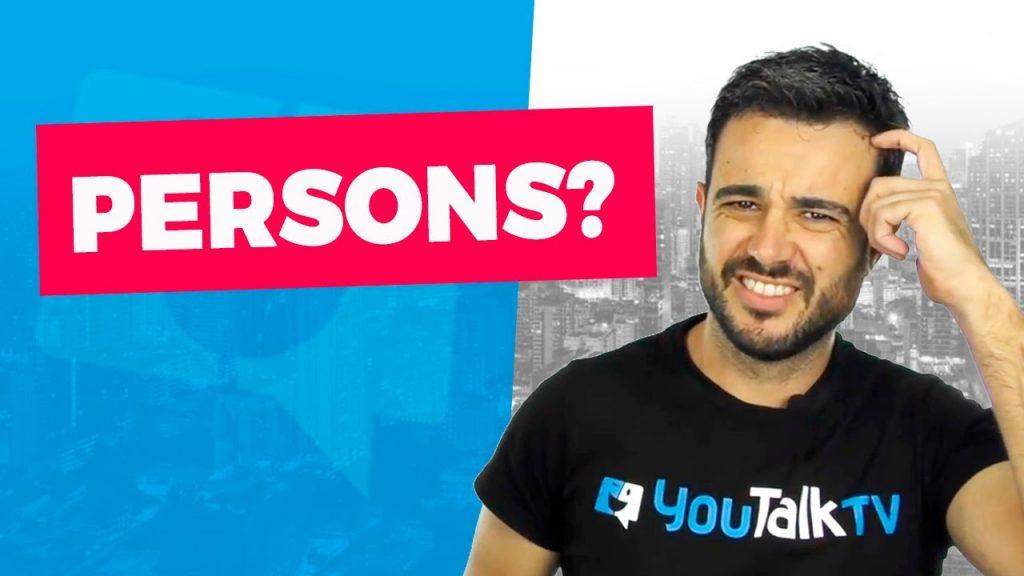 Cómo se dice persona en inglés: Portada del vídeo de Carlos en YouTube