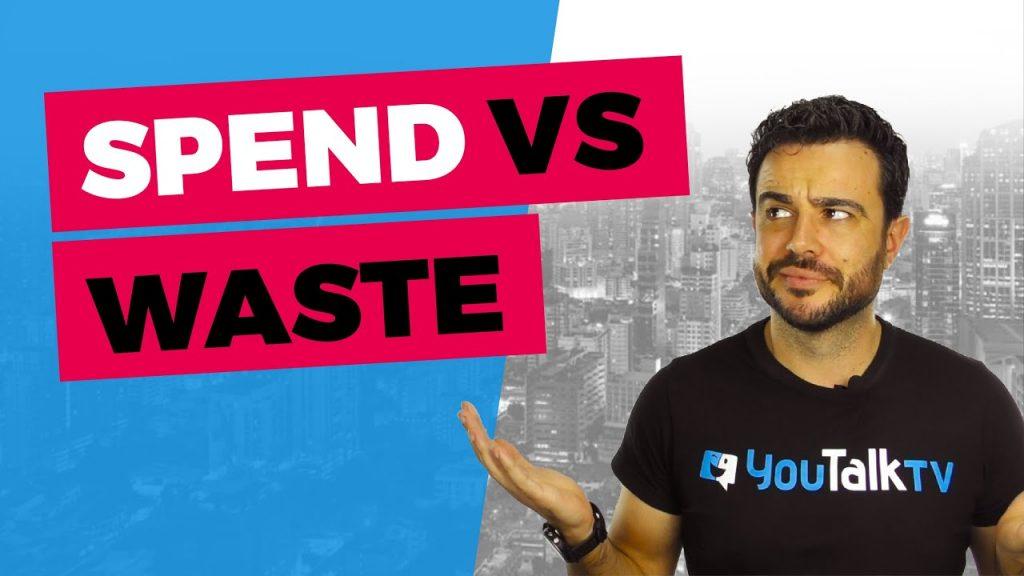 Diferencias entre spend y waste: Portada del vídeo de YouTube de Carlos