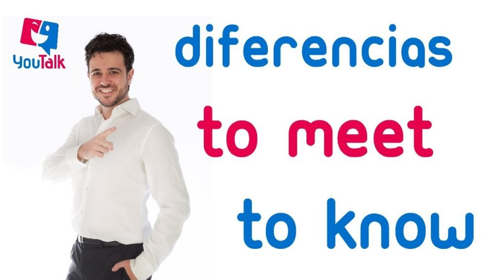 foto para el artículo de youtalk sobre los verbos meet and know