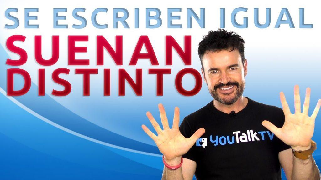 10 palabras que se escriben igual en inglés y español: Portada del vídeo YouTube de Fran