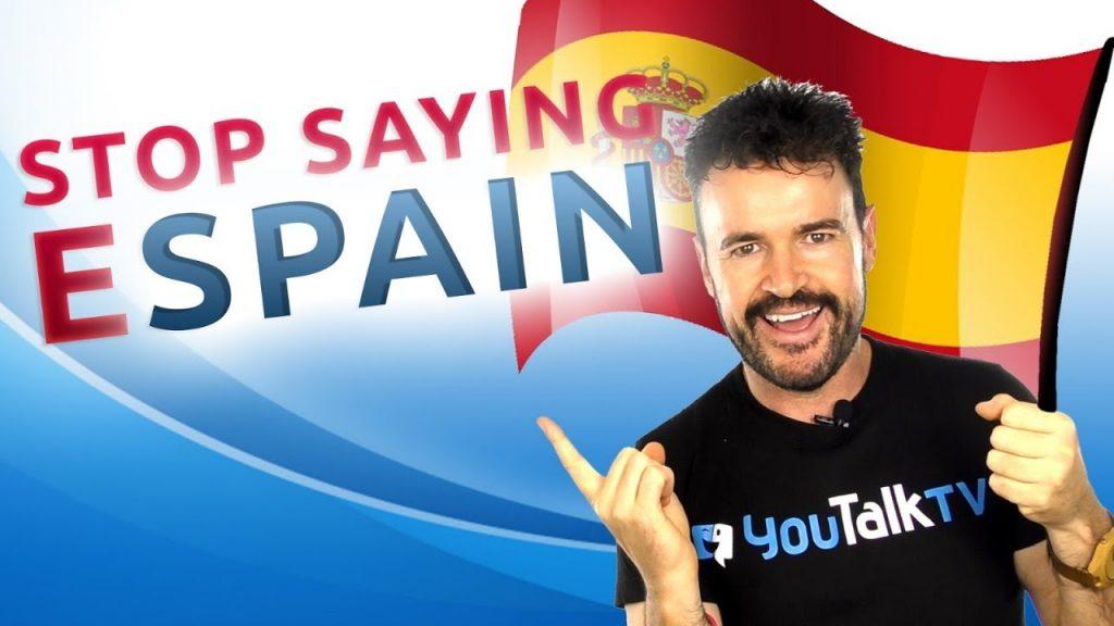 No digas espain ni estop: Portada del vídeo YouTube de Fran