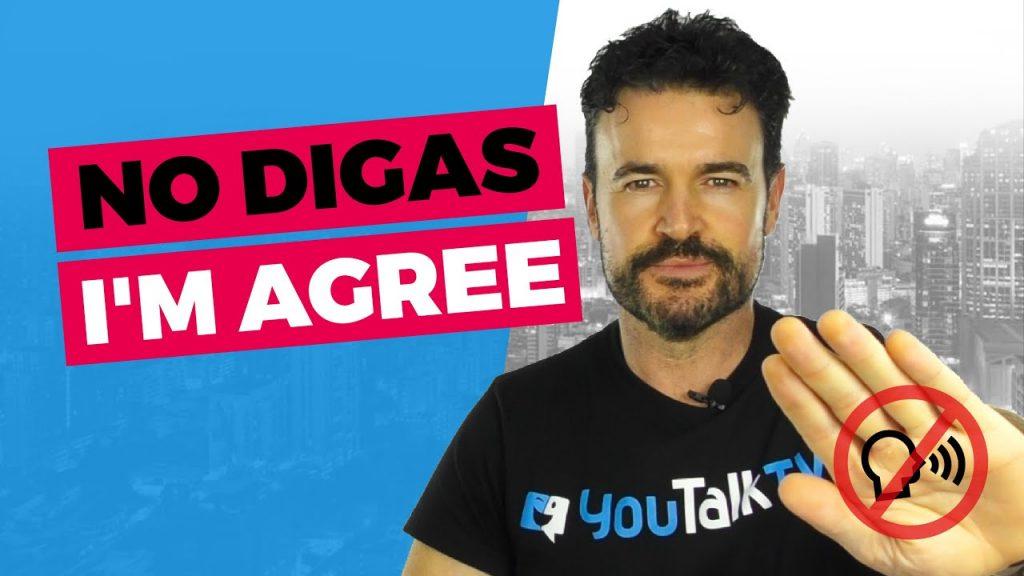 Estar de acuerdo en inglés: Poratda del vídeo de YouTube de Fran sobre maneras alternativas de decir I'm agree