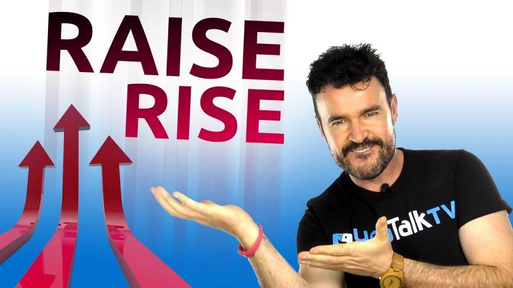 foto para el artículo sobre las diferencias entre raise y rise en inglés.