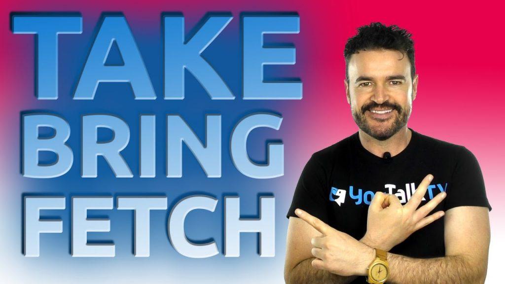 Foto para ilustrar el artículo sobre las diferencias entre take, bring y fetch en inglés